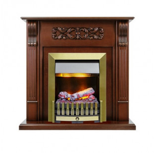 Dimplex Каминокомплект Venice - Махагон коричневый антик с очагом Danville Antique Brass FB2
