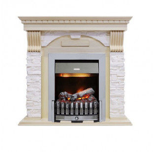 Dimplex Каминокомплект Dublin - Слоновая кость с патиной - Сланец крем с очагом Danville Chrome FB2