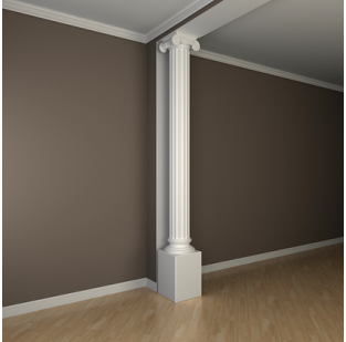 Полиуретановый декор Европласт колонна 1.30.209